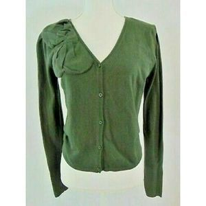 Cabi Women's Medium Dark Green Cropped Sweater 639